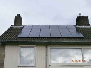 18 Risen 195 WP Mono panelen + KLNE Solartec omvormer
