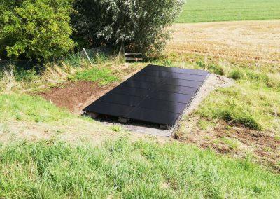 Zonnepanelen vrije veldopstelling Nieuwendijk