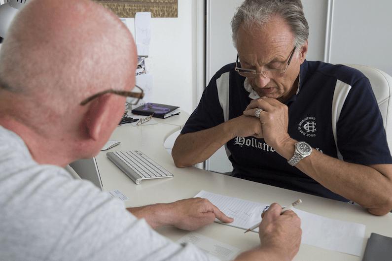 Overleg over zonnepanelen met de voorzitter van de VvE