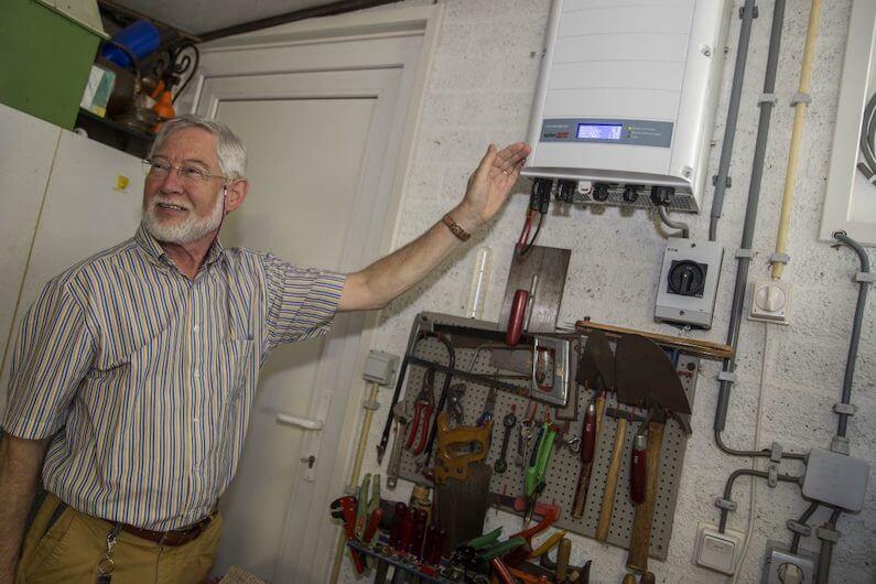 SolarEdge 10K-omvormer in een woning in Sprang-Capelle