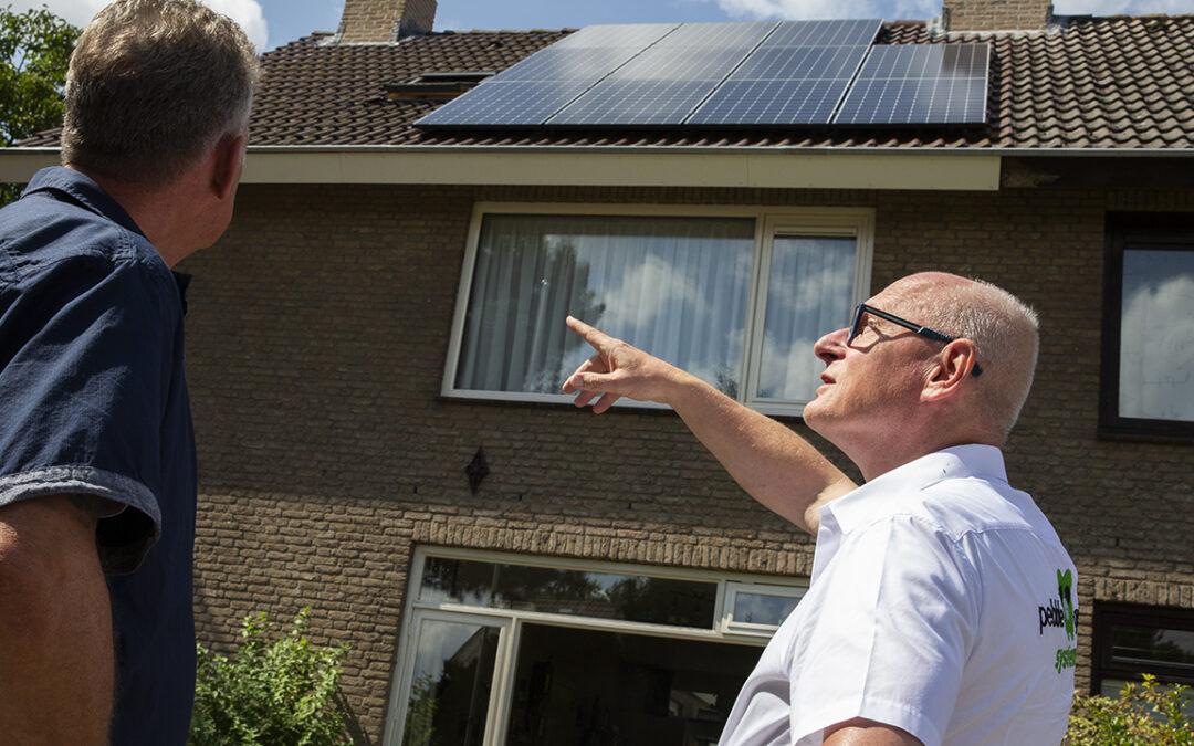 Opbrengst energie door zonnepanelen lager door slecht weer.