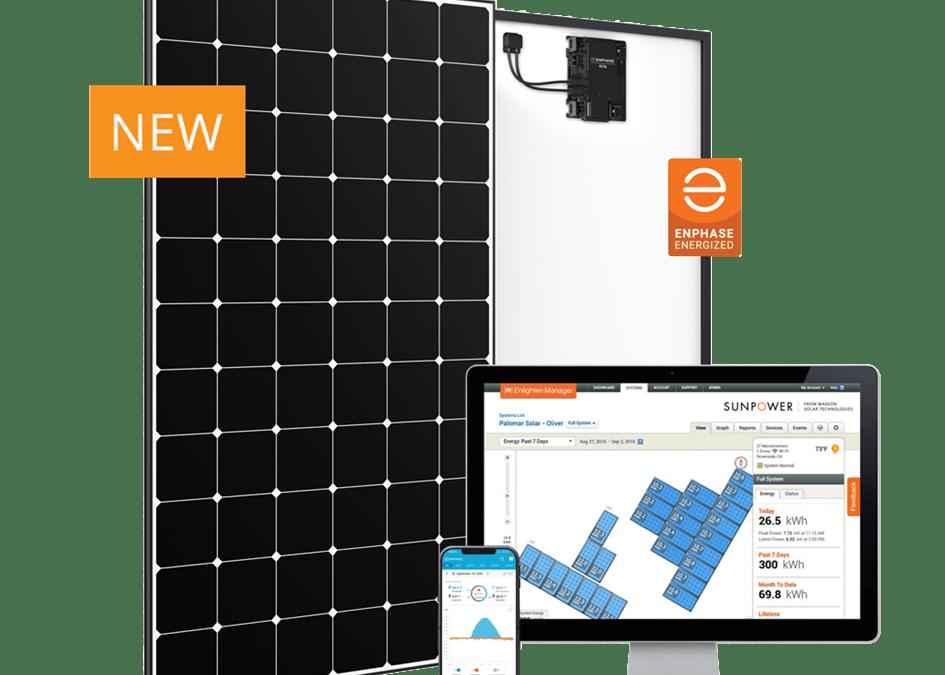 SunPower Max5 met geïntegreerde Enphase micro-omvormer.