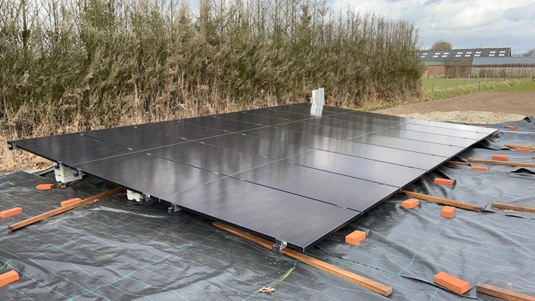 Project prinsenbeek veldopstelling zonnepanelen