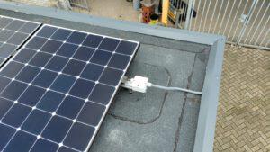 Gelijkstroom direct op het dak